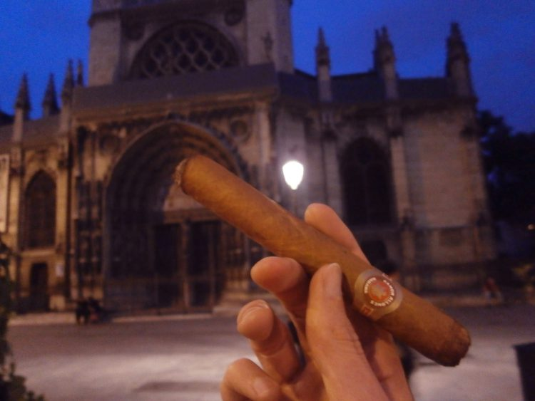 Ramón Allones Gigantes with an inch smoked, and a church