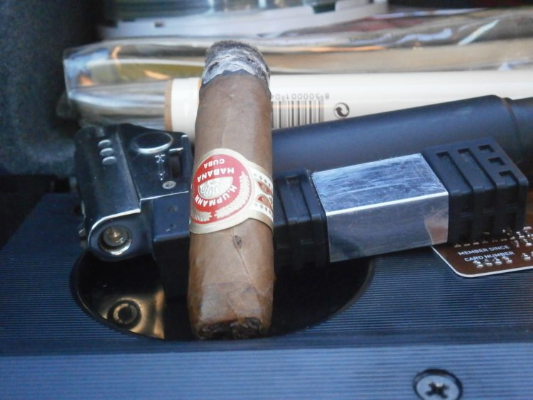 H. Upmann Monarcas final third, on an honest lighter