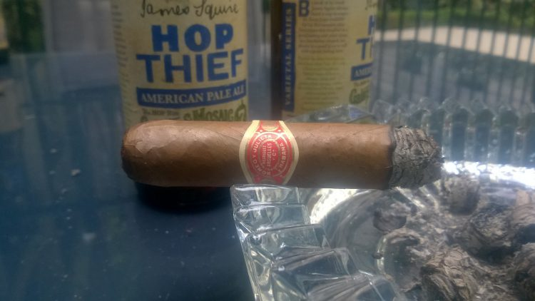 Romeo y Julieta Double Corona 125 Aniversario Humidor, with a bit less than half remaining