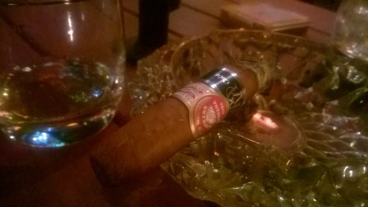 H. Upmann No. 2 Reserva Cosecha 2010 smoked just above the band