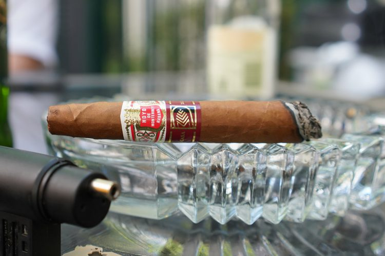 Hoyo de Monterrey Elegantes La Casa del Habano Exclusivo 2016, with two thirds remaining
