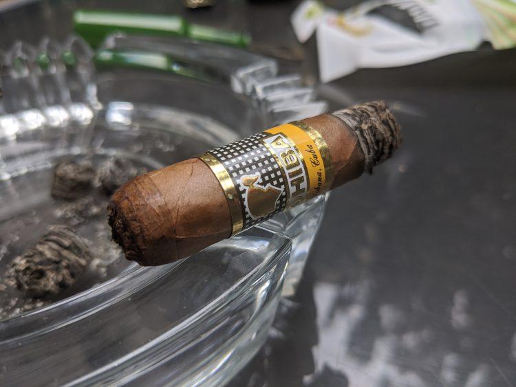 Cohiba Siglo II, about half smoked